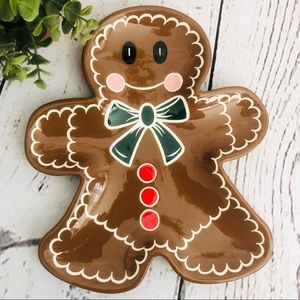 Home & Garden Party Gingerbread Man Ceramic Plate